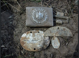 German Buckle Gott Mit UNS with dogtags was found is Stalingrad