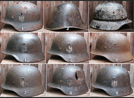 New WW2 helmets available for sale