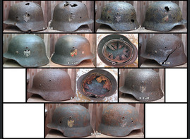 New WW2 German helmets for sale
