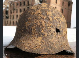 Steel helmet SSH36 / from Stalingrad