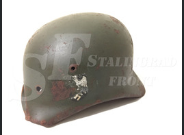 "Steel helmet M35 from ""Gumrak airfield"""