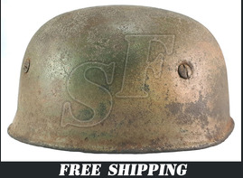 German helmet М38 paratrooper (Fallschirmjägerhelm) / from Ardennes
