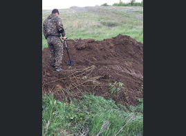 Excavations in Gumrak airfield and the village Ezhovka