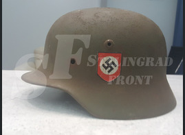 Steel helmet M-35 Kuzmichi village [Restoration]