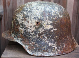 Winter camo helmet M42 / from Koenigsberg