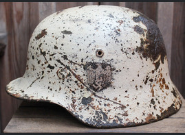 Winter camo Wehrmacht helmet M40 / from Moscow