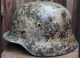Winter camo Wehrmacht helmet M35 / from Kalinin