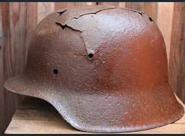 German helmet M42 / from Pskov