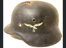 Luftwaffe helmet M40 / from Stalingrad