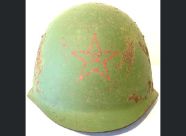 Soviet helmet SSh39 / from Murmansk