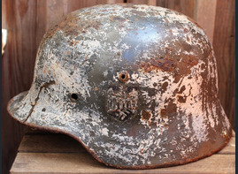 Winter camo Wehrmacht helmet M35 DD / from Novgorod