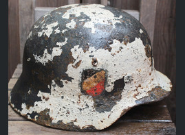 Winter camo helmet M35 DD / from Novgorod