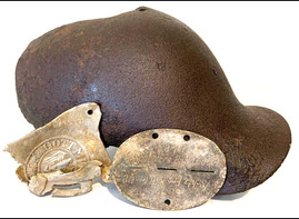 German helmet + dogtag + buckle  / from Stalingrad
