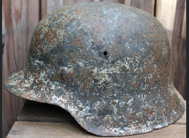 Winter camo Luftwaffe helmet M42 / from Königsberg