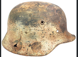 Winter camo Wehrmacht helmet M40 / from Stalingrad