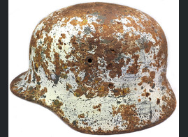 Winter camo helmet M40 / from Stalingrad