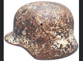 German winter camo helmet M40 / from Stalingrad