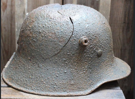 German helmet M18 / from Koenigsberg