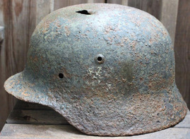German helmet M35 DD / from Karelia