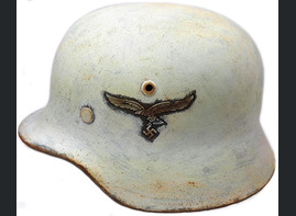 Winter camo Luftwaffe helmet M35 DD / Restoration