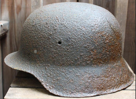 German helmet M42 / from Novgorod