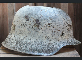 Winter camo German helmet M42 / from Smolensk