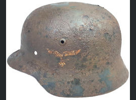 Luftwaffe helmet M35 DD / from Stalingrad