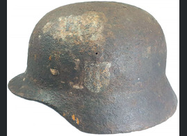 German helmet M40 / from Fuchsberg