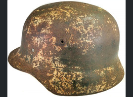 Winter camo German helmet M40 / from Belgorod