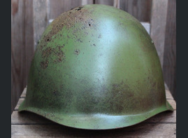 Soviet helmet SSh39 + box / from Karelia
