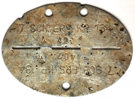 German dogtag 7 SCH.ERS.KP. 134
