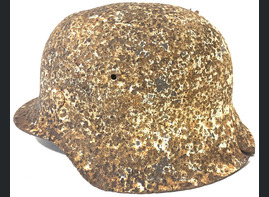 Winter camo German helmet M42 / from Stalingrad