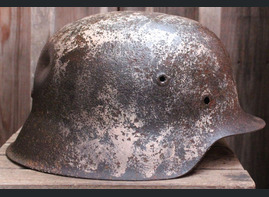 Winter camo German helmet M42 / from Kaluga
