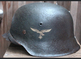 Luftwaffe helmet M42 / from Leningrad