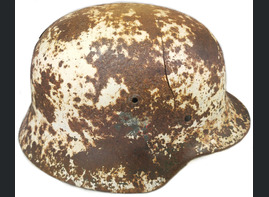 Winter camo German helmet M35 / from Moscow