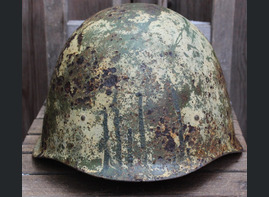 Winter camo Soviet helmet SSh40 / from Leningrad
