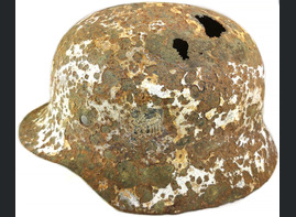 Winter camo Wehrmacht helmet M35 / from Moscow