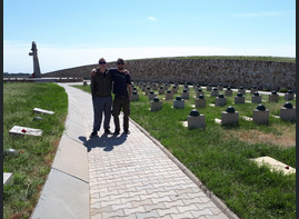 Jimbo and his brother Thomas in Rossoshka military memorial cemetery