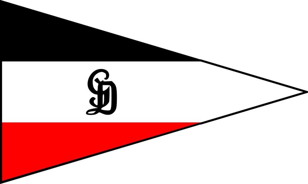 Tactical flag on a division car Großdeutschland / from Koenigsberg