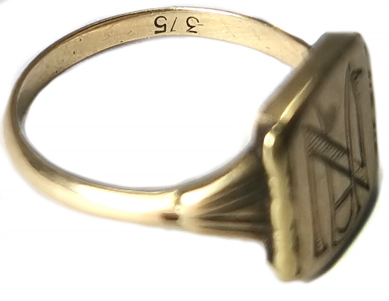 Signet with initials / from Stalingrad