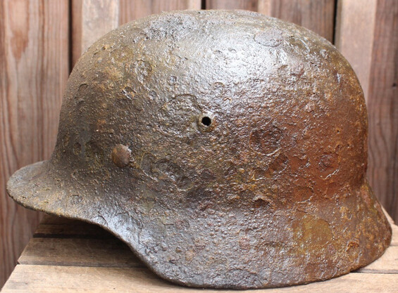 German helmet M40 / from Königsberg