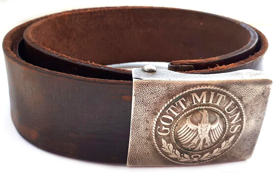 "Weimar Republic belt with buckle ""Gott mit Uns"""