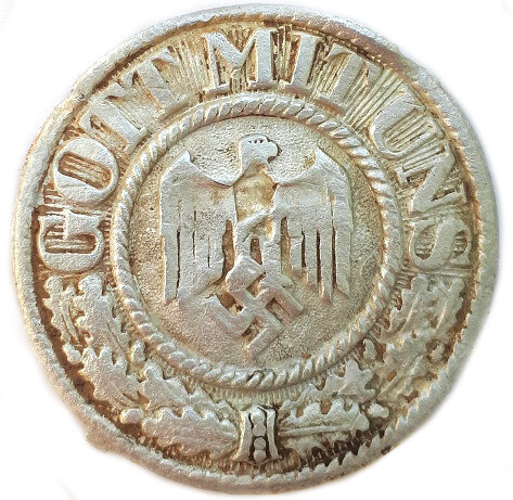 "Cover plate from buckle ""Gott mit Uns"""