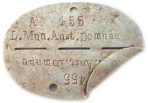 Dogtag L.Mun.Anst.Domnau / from Leningrad