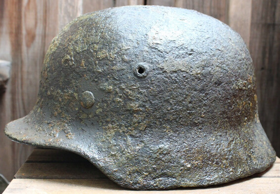 German helmet M35 / from Novgorod