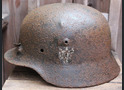 German helmet M40 / from Stalingrad