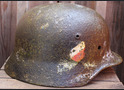 Luftwaffe helmet M35 DD / from Novgorod
