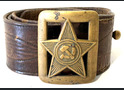 Soviet officer belt with buckle, sample 1935 / from Stalingrad