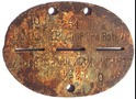 German Dogtag Kp./INF.Ers.Batl 78 / from Belarus