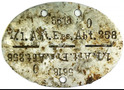 German dogtag 1/.1.Art.Ers.Abt.258 / from Stalingrad
